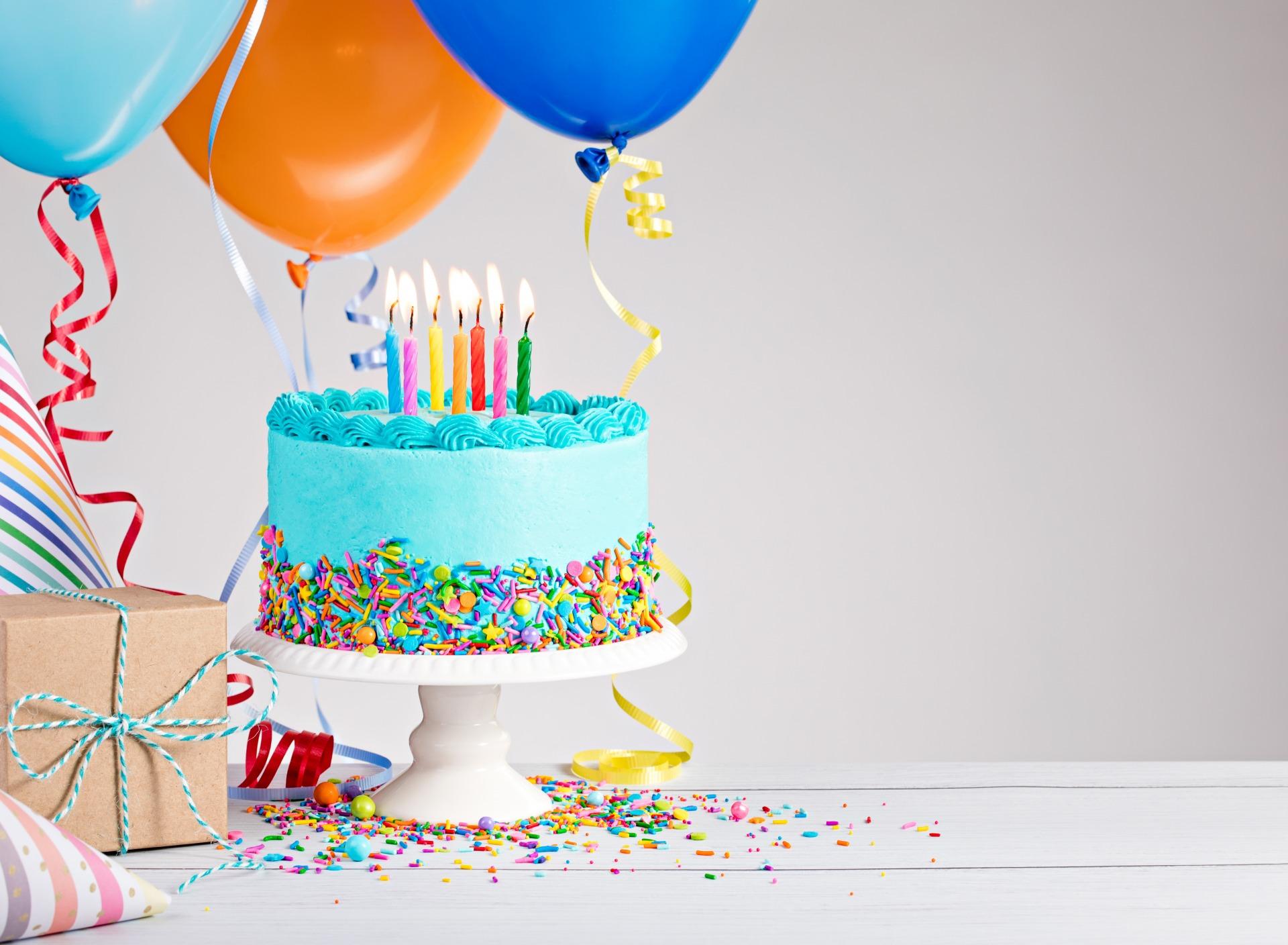 Happy Birthday Cake Candles Colorful Den Rozhdeniia Tort Dec